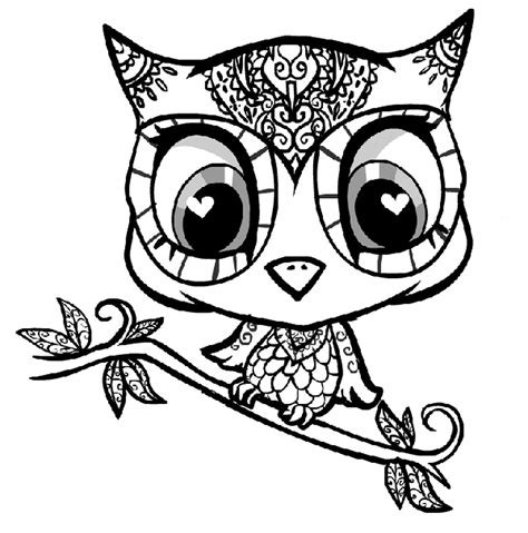 printable images of owl free online coloring pages for girls hard printable kids