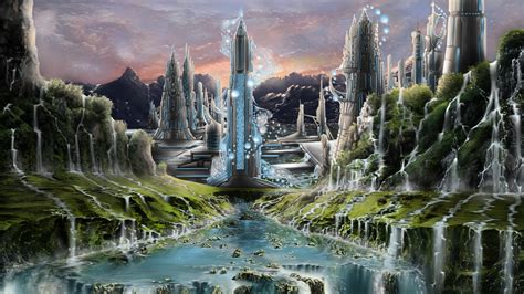 wallpaper abyss fantasy city city wallpaper and background 1600x900 id 209847