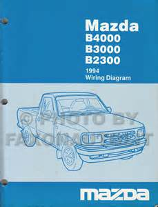 1994 mazda b4000 b3000 b2300 truck wiring diagram manual original