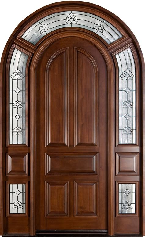 wood front door front door custom single with 2 sidelites solid wood