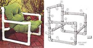 pvc pipe patio furniture plans easy to make furniture sunset diy manual from the 1970s