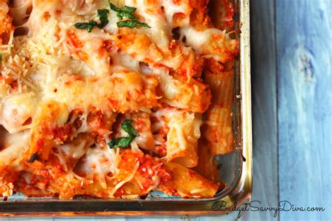 pasta bake recipes chicken parmesan baked pasta recipe budget savvy diva