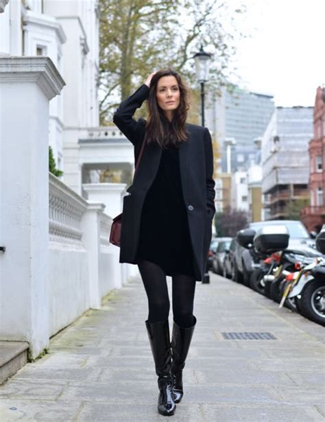 how to style a black dress for fall 15 ideas