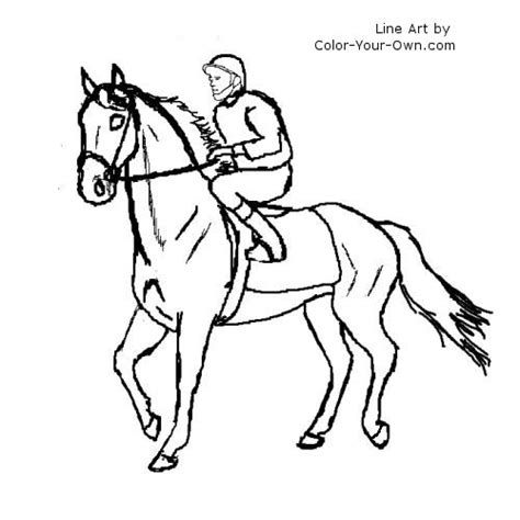 walking racehorse coloring page