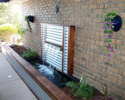 water feature stainless steel spillway water blade water wall ideas for my garden