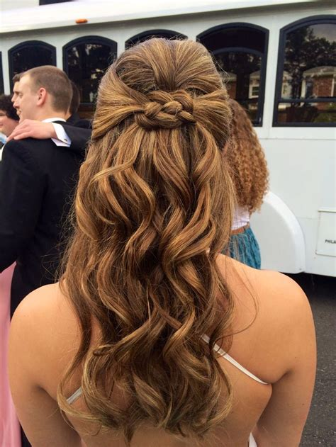 prom curly half up half down front and back view curly prom half up half down hair all things prom