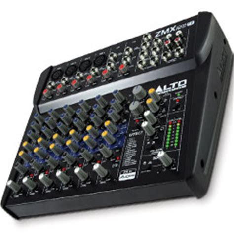 Mixer Alto Zmx122fx alto zmx122fx 8 channel compact mixer with effects
