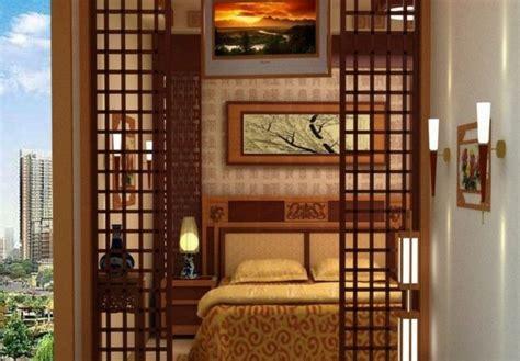 schlafzimmer trennwände raumtrenner idee kamin