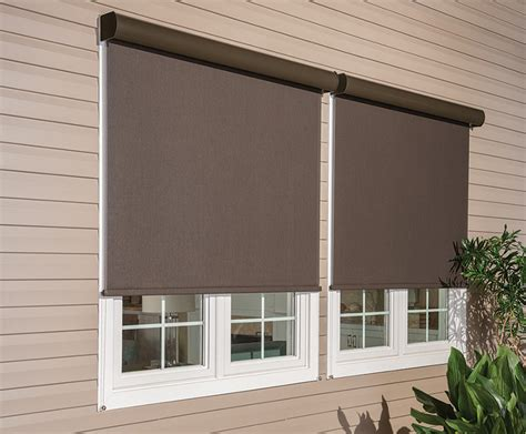 exterior window coverings awnings motorized solar screen knoxville contemporary exterior