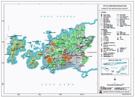 peta kota peta kabupaten manggarai barat