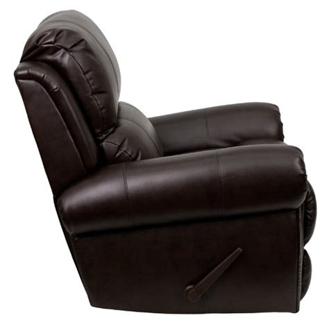 Recliners For Guys by Flash Furniture Dsc01072 Brn Gg Plush Brown Leather