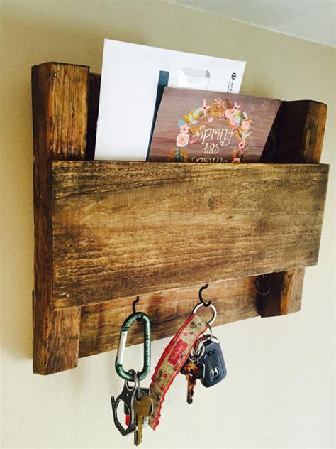 key storage ideas items similar to wooden mail and key holder on etsy