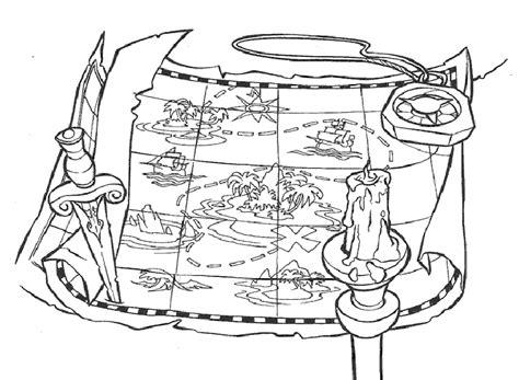 dibujo de un tesoro el mapa del tesoro