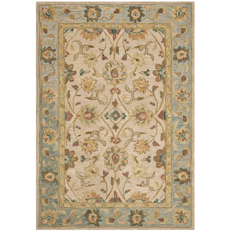 carleson ivory and blue rug safavieh anatolia ivory blue area rug reviews wayfair