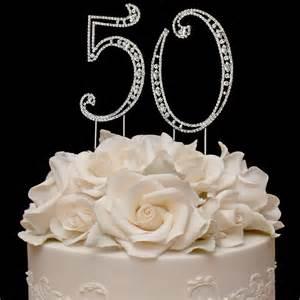 50th cake topper vintage swarovski 50th anniversary cake topper