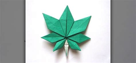 Origami Maple Leaf - how to origami a maple leaf 171 origami
