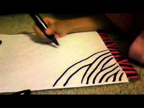 how to draw easy zebra stripes