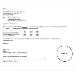 notary templates sle notarized letter 6 documents in word pdf