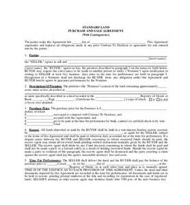 Land Purchase Contract Template 11 purchase agreement templates free sle exle