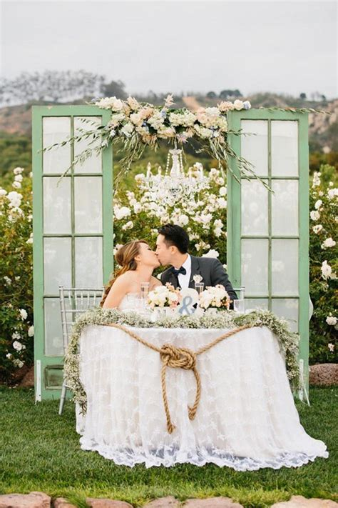 Wedding Ceremony Vs Reception by 15 Wedding Sweetheart Table Decoration Ideas Oh