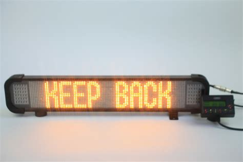 premier led truck lights infoalert fixed message sign premier hazard manufacture