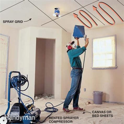 how to apply popcorn ceiling backuppick