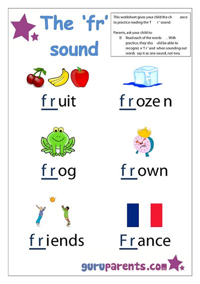 4 Letter Words With F letter f worksheet fr sound quite a few simple