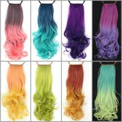 colored hair extensions clip in 50cm 120g wavy curl clip in hair extensions ombre