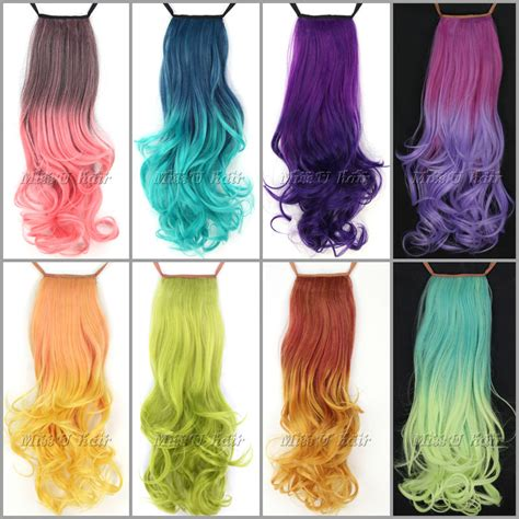 color hair extension aliexpress buy s synthetic ribbon ponytail