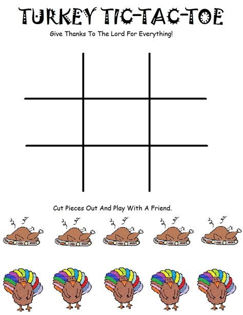 tic tac toe project template 1000 images about thanksgiving on turkey