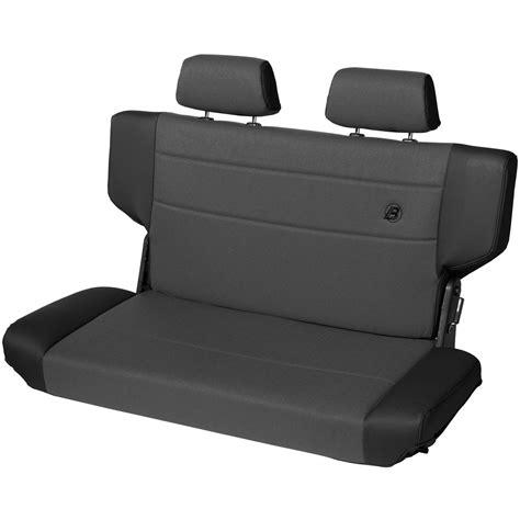 bestop jeep tj seats 39439 15 bestop trailmax bench seat rear black denim for