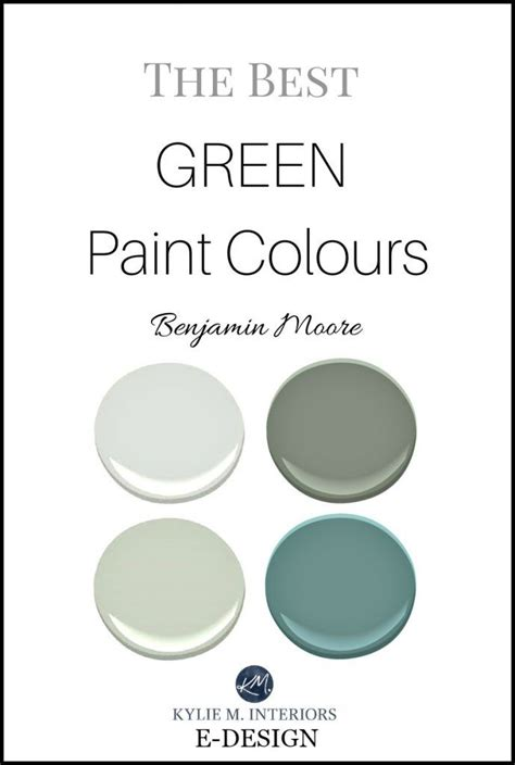 the best benjamin green paint colours blue green