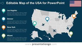 usa editable powerpoint map presentationgo