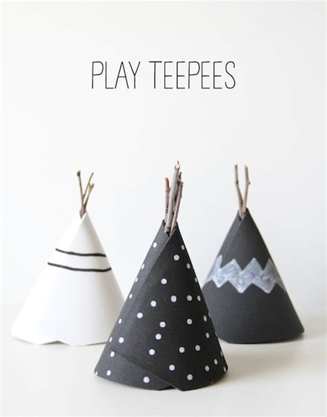 How To Make Paper Teepees - diy play teepees the neighborhood