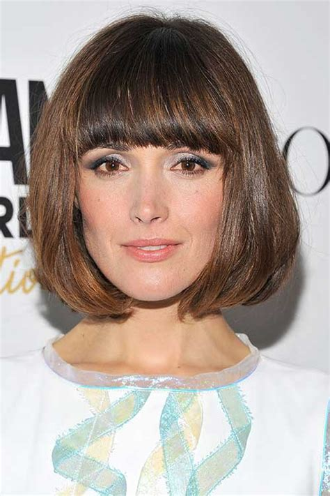 layered chin length blunt cut with bangs chin length bob 2014 the best short hairstyles for women