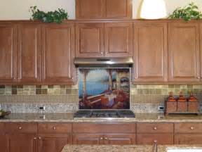 murals for kitchen backsplash kitchen backsplash tile mural mediterranean kitchen