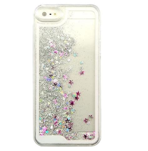 Water Gliteer Hello Iphone 5g 5s iphone 5 silver glitter waterfall sparkle free shipping 183 petrichor 183 store
