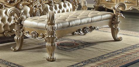 Homey design royal kingdom hd 7012 bed bench