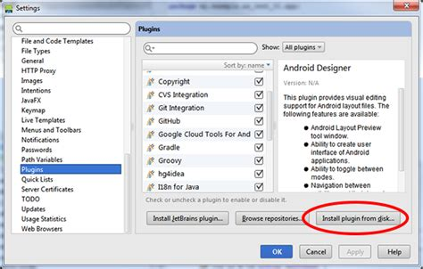 android studio plugins blackberry in for android studio runtime for android apps blackberry developer
