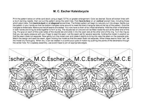 printable kaleidocycle template kaleidocycles paper pinterest bead weaving free
