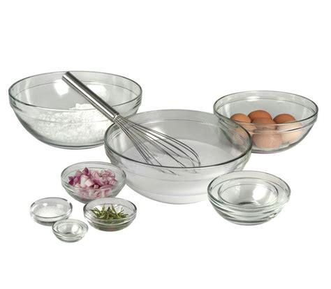 Mixing Bowl 10 Pc Set Wadah Takar 10 anchor hocking mixing bowls set nesting cooking prep baking kitchen ebay