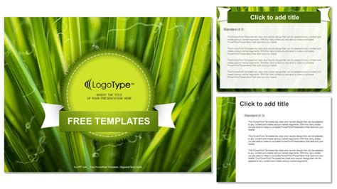 Green Leaves Nature Powerpoint Templates Green Nature Ppt Templates Free