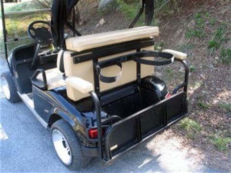 golf cart rear seat folding footrest custom golf carts quot black lightning quot golf cart