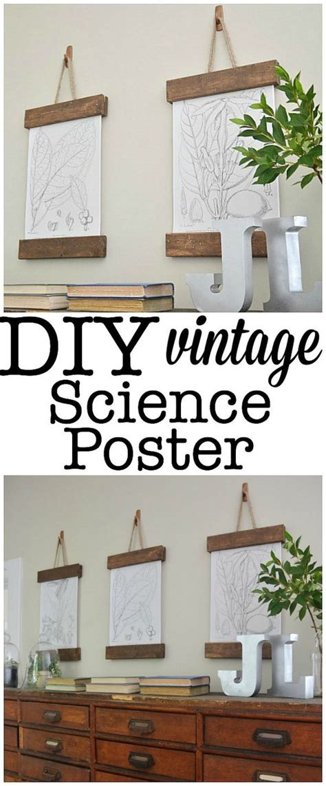 ways to hang posters diy vintage science poster boat plans hanging art and