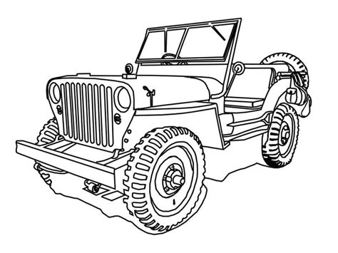 coloring page of a jeep military jeep coloring pages coloring home