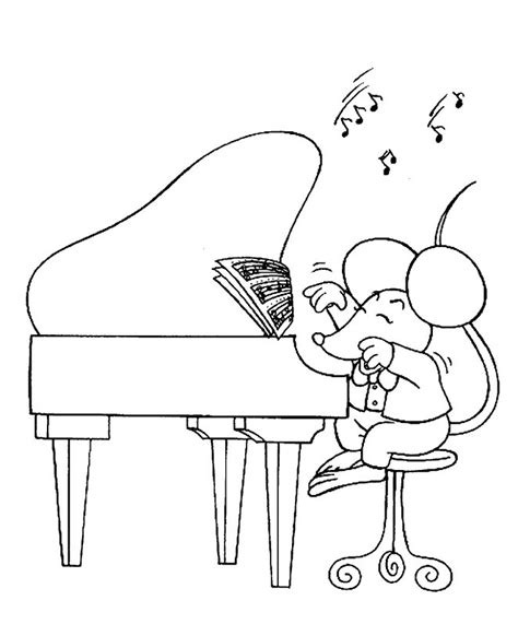 coloring page girl playing piano free girl playing piano coloring pages