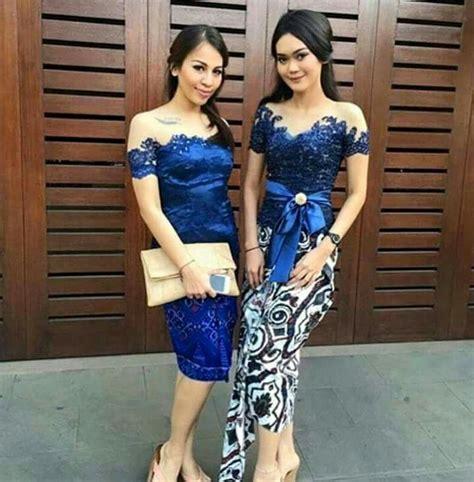 Fashion Modern Ethnica Dress Navy Modis Terbaru Murah collar variations for kebaya kebaya collars and kebaya