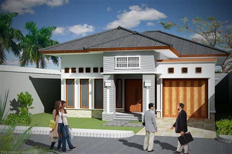 rumah minimalis  lantai  garasi desain rumah minimalis