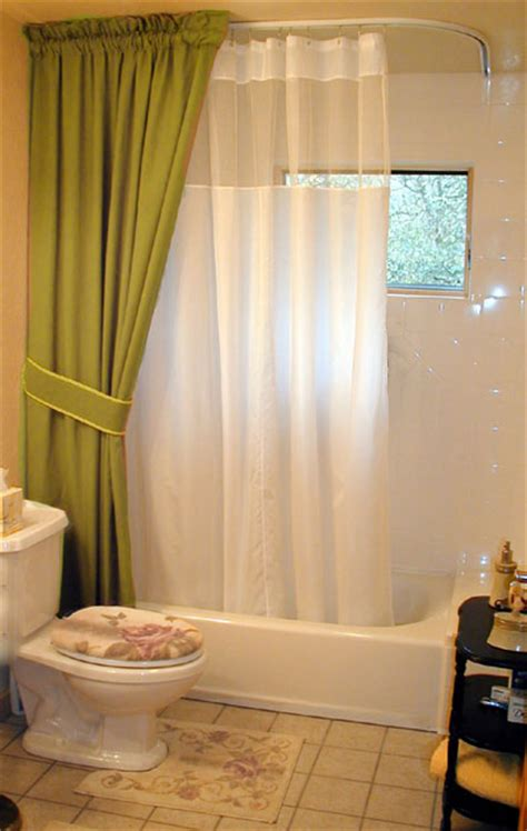 duschvorhang decke shower curtain from ceiling rooms