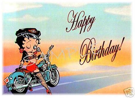 happy birthday biker images edible cake image betty boop biker birthday rec ebay